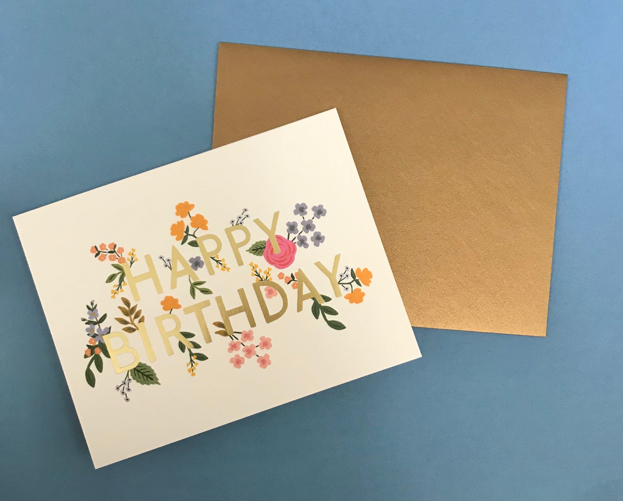 White Floral Birthday Card