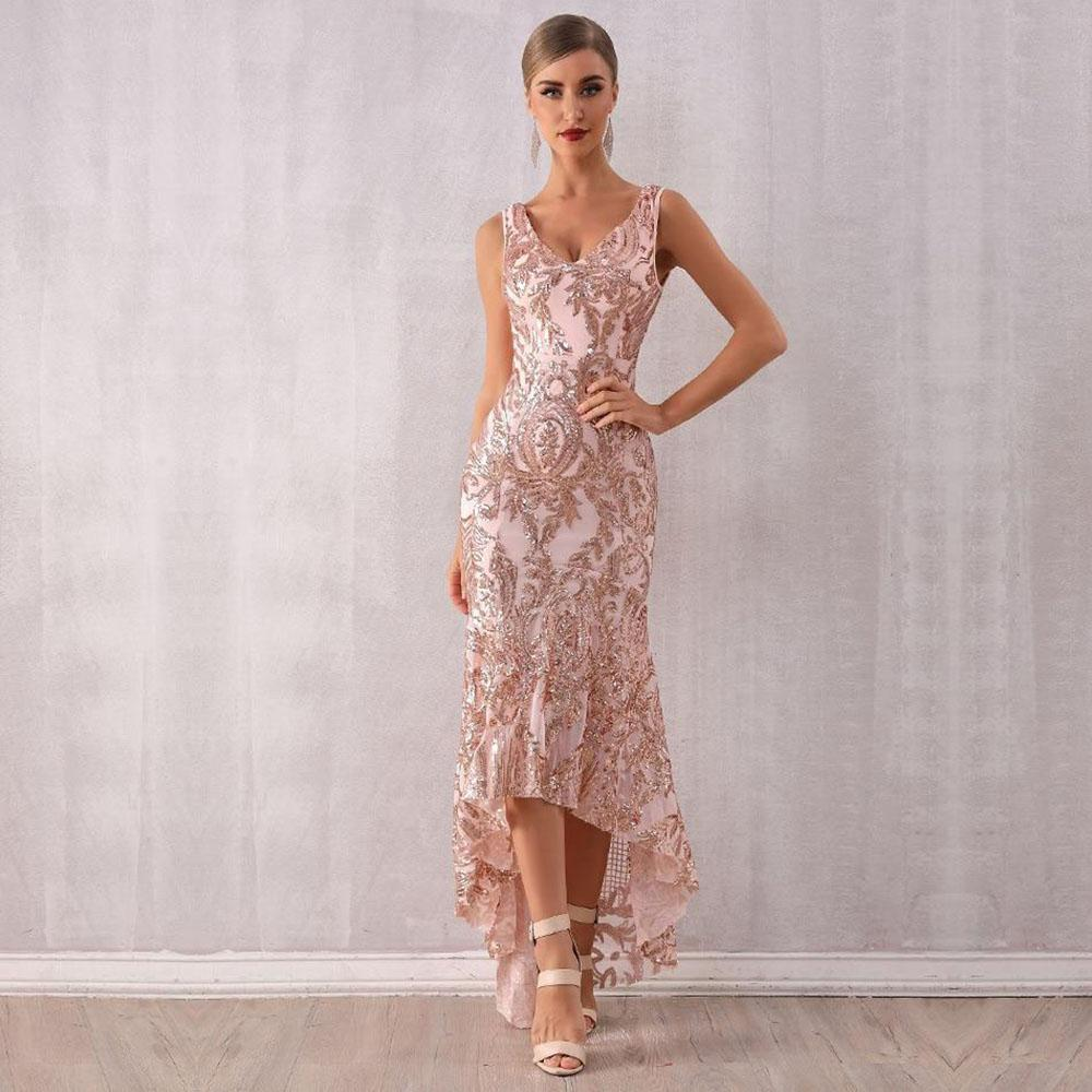 Robe Longue A Paillettes Style Annees 30 Fashionistrass