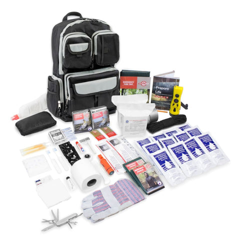 2 Person- Urban Survival Bug-Out Bag with Water Purification