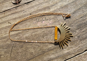 Collier Lune&Soleil Moutarde