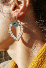 Load image into Gallery viewer, Boucles d'Oreilles Penjab Rouge