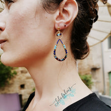Load image into Gallery viewer, Boucles d'oreilles Scala bleu
