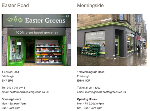 Easter Greens Stores