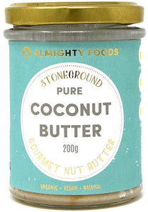 Almighty Foods Gourmet Coconut Butter Organic 200g