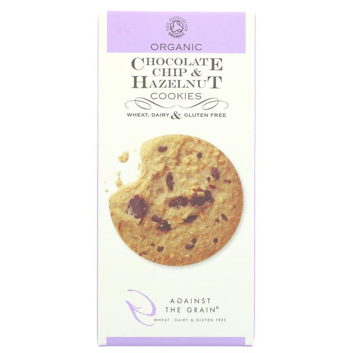 Against The Grain Organic Choc Chip and Hazelnut Cookie 150G