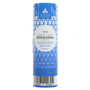Ben and Anna Soda Deodorant - Pure 60G
