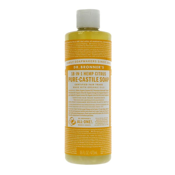 Dr Bronner's Citrus Orange Liquid Soap 473ML