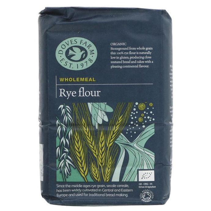 Doves Farm Rye Flour Wholegrain Organic 1KG (max 2 per customer please)