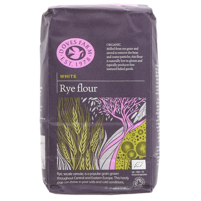 Doves Farm Rye Flour White Organic 1KG (max 2 per customer please)