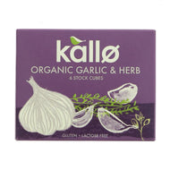 Kallo Garlic & Herb Stock Cubes 66g
