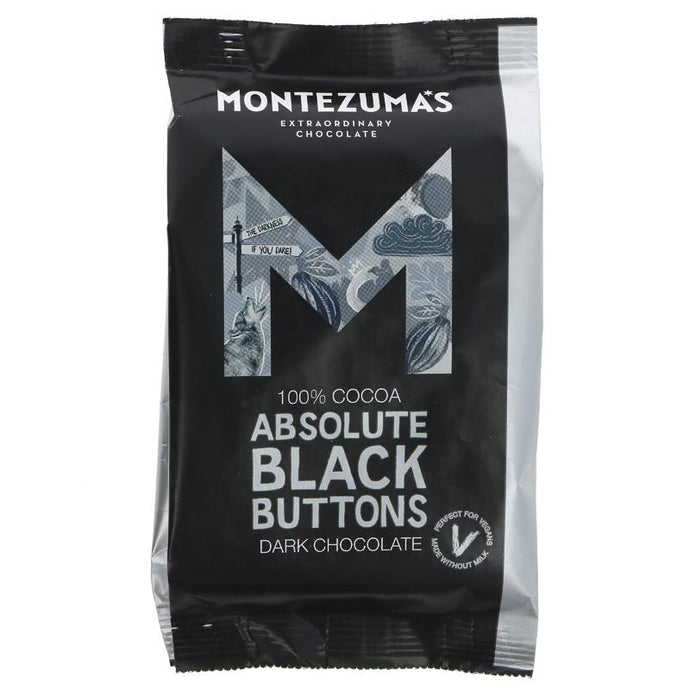 Montezumas Absolute Black Giant Buttons 180g
