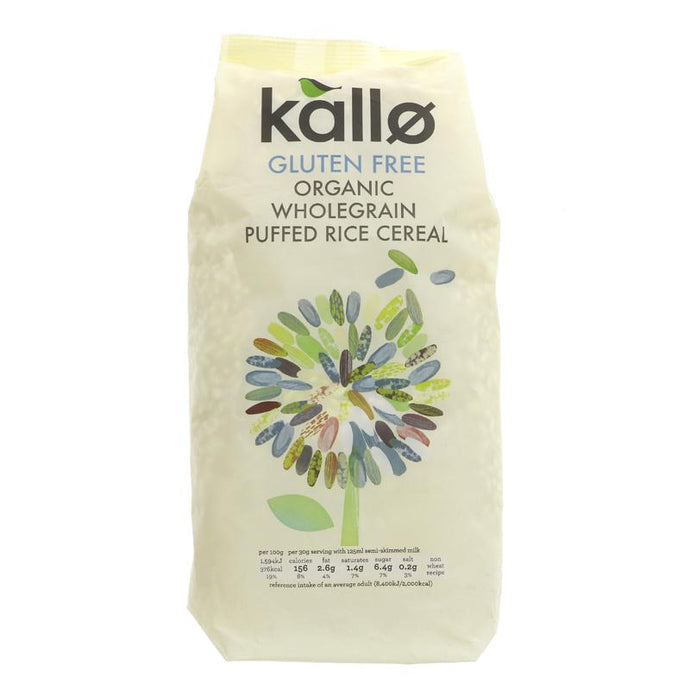 Kallo Puffed Rice Cereal - Natural 225G