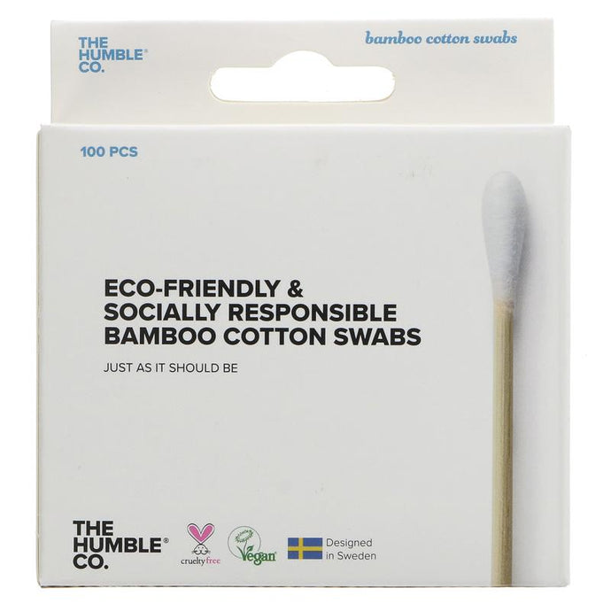Humble Bamboo Cotton Swabs - White 100