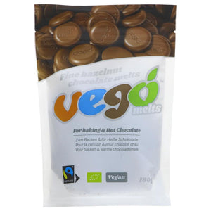 Vego Hazelnut Chocolate Melts - 180g