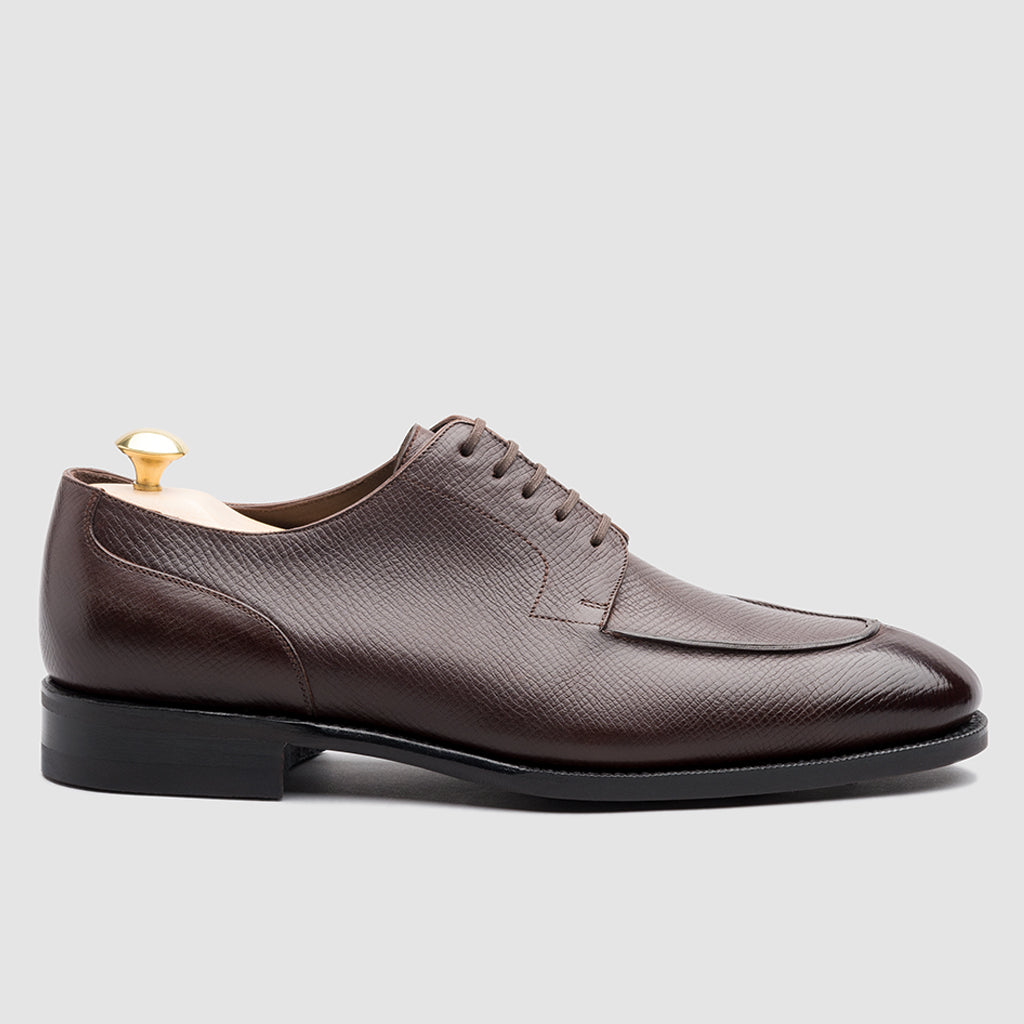 George Split Toe Derby Ebony Utah Calf | Sons of Henrey