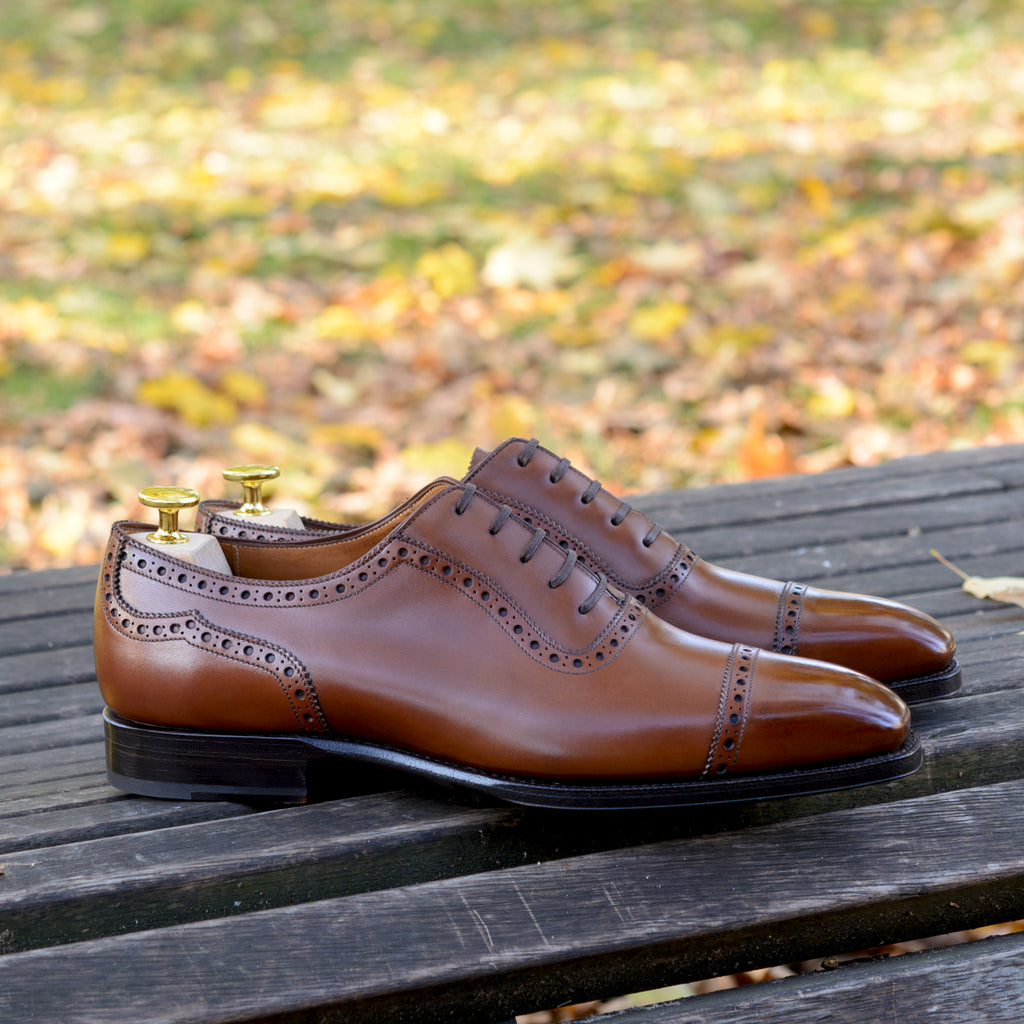Cortes Adelaide Oxford Antique Chestnut Calf | Sons of Henrey