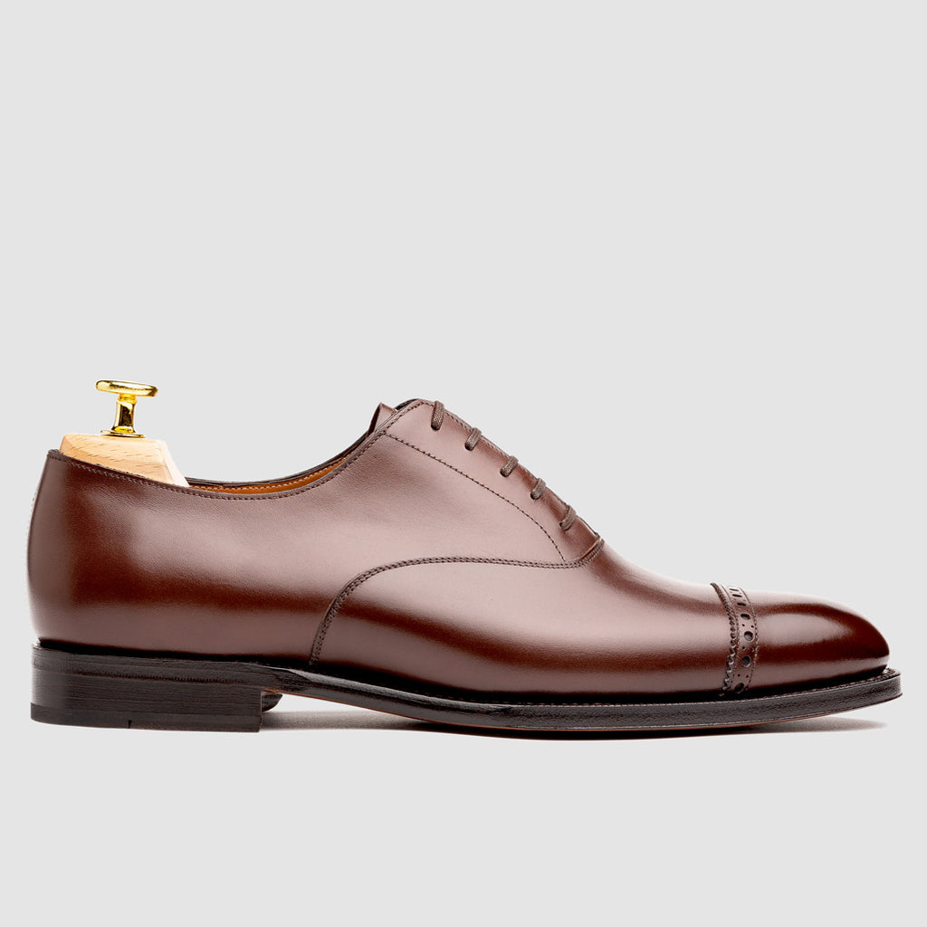 Harvey Captoe Oxford Dark Brown Calf | Sons of Henrey