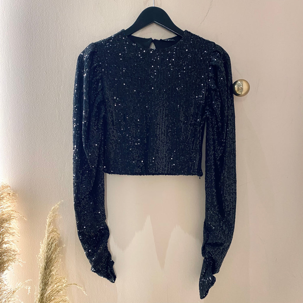 AndreA - Puffy Sequin Top