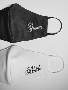 Set Cubrebocas Bride & Groom #1