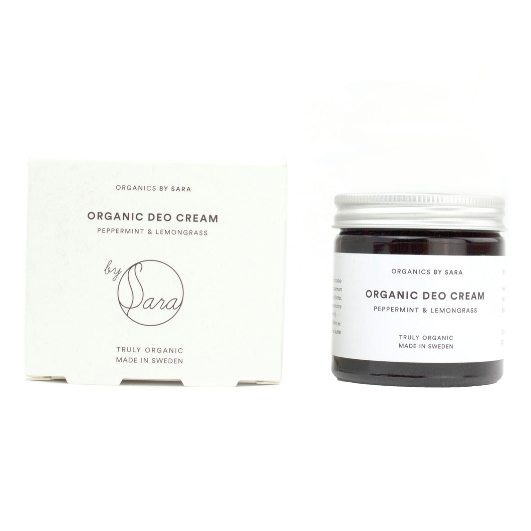 Organic Deo Cream Peppermint & Lemongrass