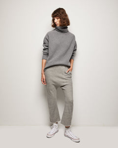 Layla, Heather Grey, Turtleneck Sweater