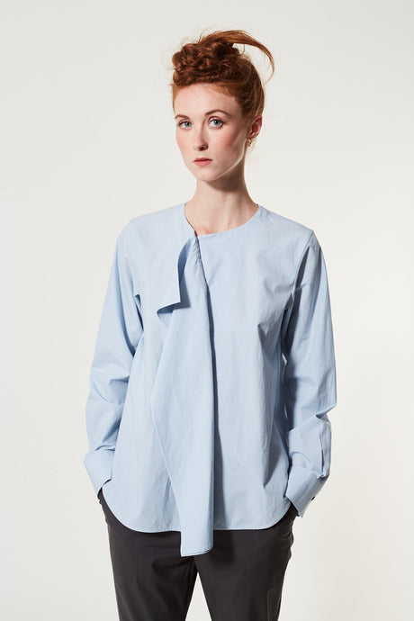 Dorrin, Dusty Blue, Blouse - Lindner Fashion