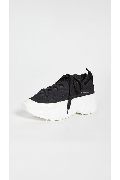 Manhatten, Black / White, Sneaker - Lindner Fashion