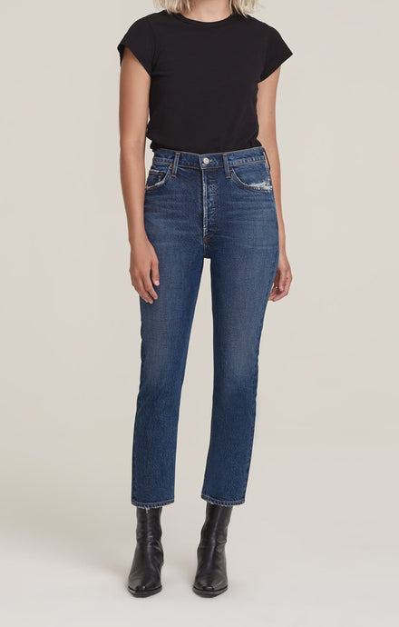 Riley, High Rise Straight Crop, Pastime, Jeans - Lindner Fashion