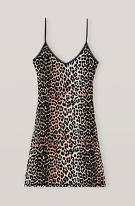 Leopard Rayon Underwear, Slip Dress - Lindner Fashion