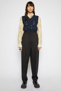 Peggerine, Charocal Tapered Wool-Blend, Trousers - Lindner Fashion