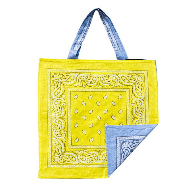 Yellow/Blue Beach Bandana, Bag - Lindner Fashion