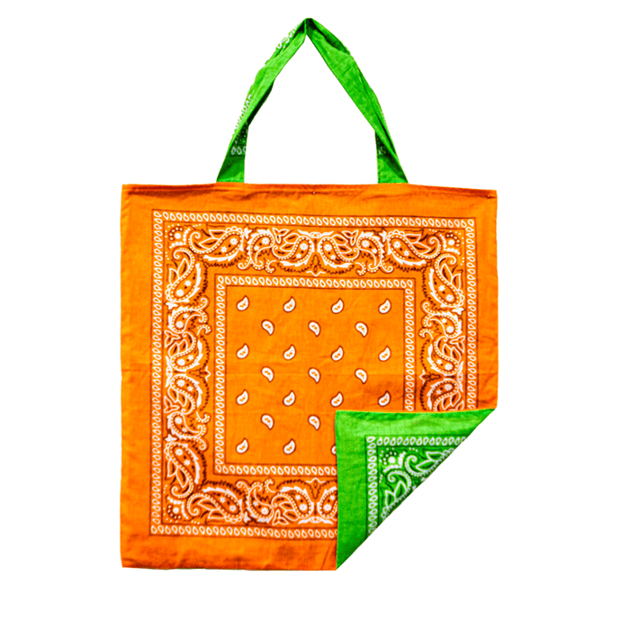 Orange/Green Beach Bandana, Bag - Lindner Fashion