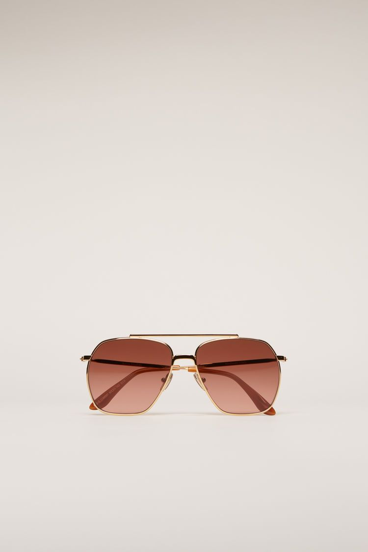 Anteom, Metall / Gold / Burgundy, Piloten-Sonnenbrille - Lindner Fashion