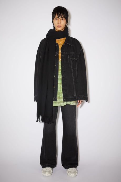 Canada New, Black Oversized Wool, Scarf - Lindner Fashion