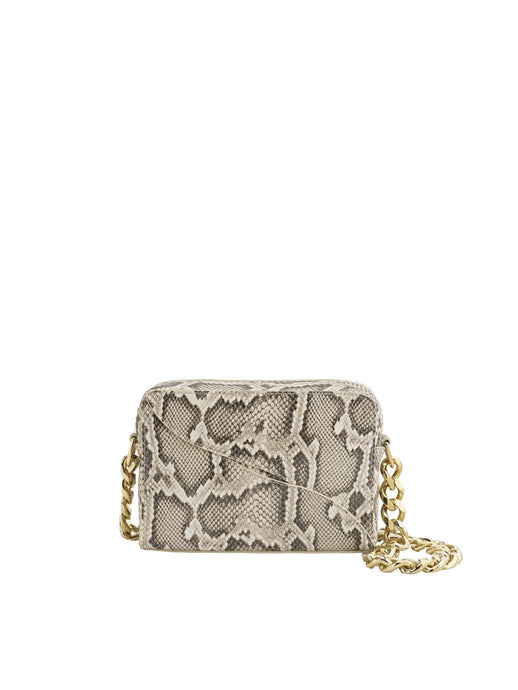 Ginosa, Beige printed snake, Shoulder Bag - Lindner Fashion
