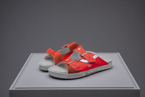 Sundl, Crinkled Red Fluo, Sandal - Lindner Fashion
