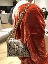 Laden Sie das Bild in den Galerie-Viewer, Ginosa, Beige printed snake, Shoulder Bag - Lindner Fashion