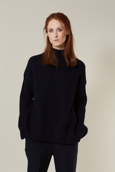 Janet, Dark Blue, Pullover - Lindner Fashion