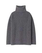 Laden Sie das Bild in den Galerie-Viewer, Layla, Heather Grey, Turtleneck Sweater