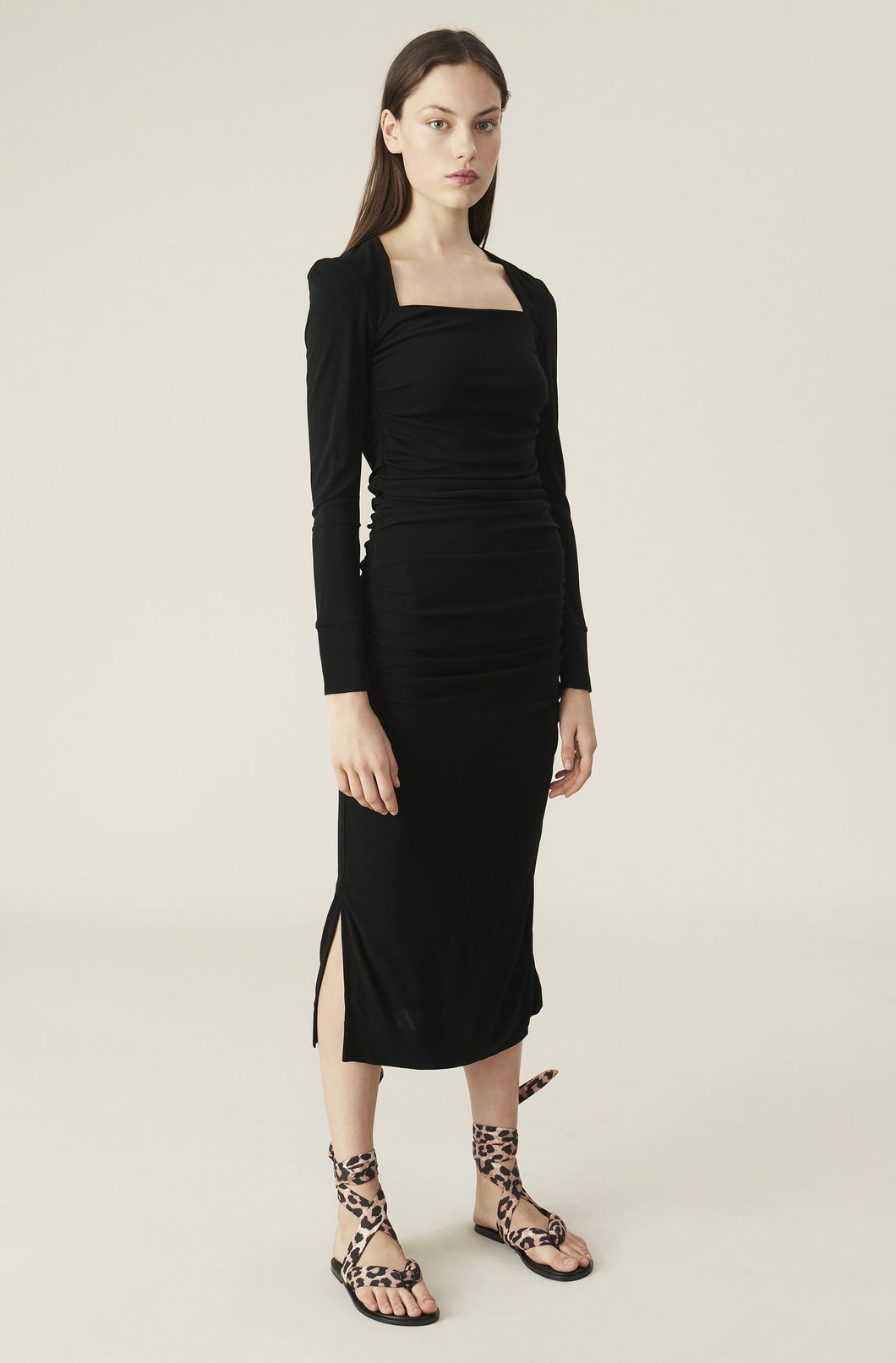 Black Viscose Jersey, Dress - Lindner Fashion