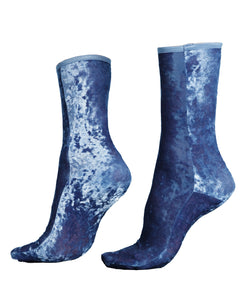 Velvet New Hammered, Sky, Ankle Socks - Lindner Fashion