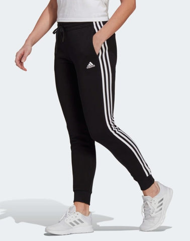 ESSENTIALS FLEECE 3-STRIPES PANTS WOMENS