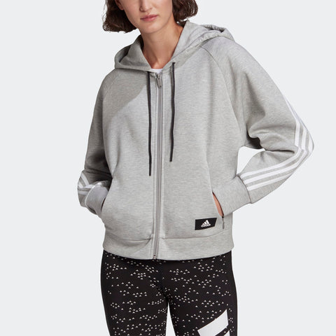 WRAPPED 3-STRIPES FULL-ZIP HOODIE WOMENS