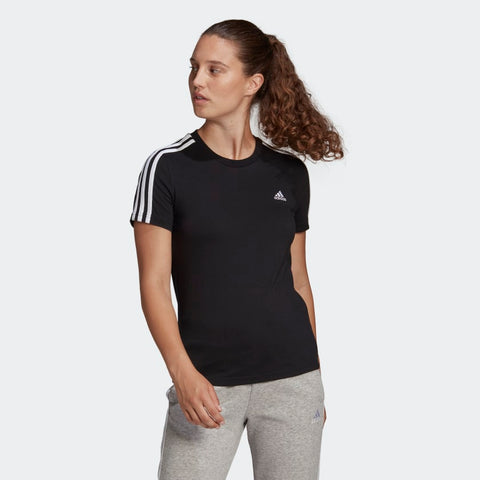 ESSENTIALS 3 STRIPES TEE WOMENS