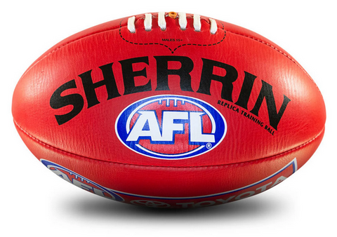AFL REPLICA TRAIN LEATHER FOOTBALL