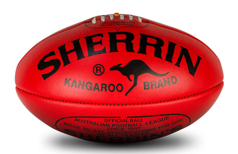 KB RED LEATHER FOOTBALL
