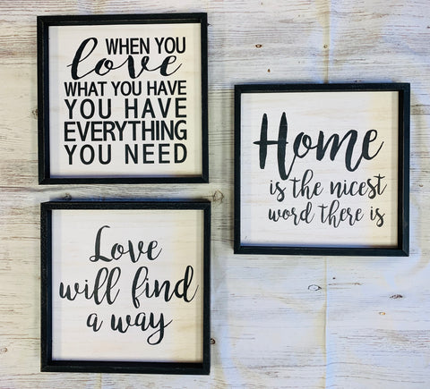 Black & White Home Signs
