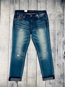 Grace In LA  - easy fit cuff jeans