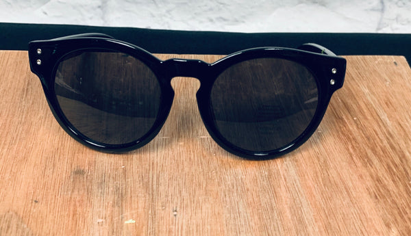 Round Black Sunglassea