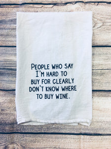 People hat say I'm hard to buy for kitchen towel